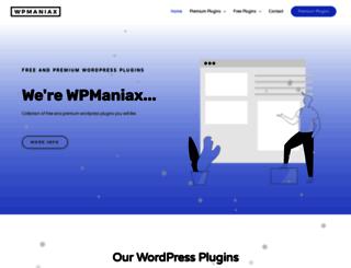 wpmaniax.com screenshot