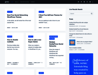 wpmututorials.com screenshot
