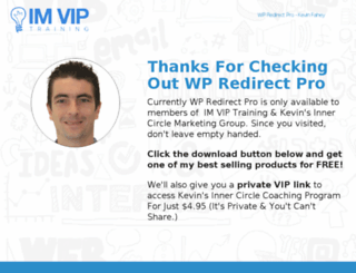 wpredirectpro.com screenshot