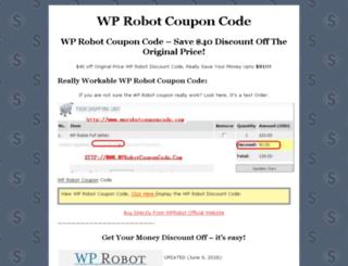 wprobotcouponcode.com screenshot