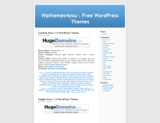 wpthemes4you.wordpress.com screenshot