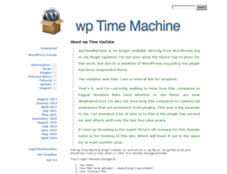 wptimemachine.com screenshot