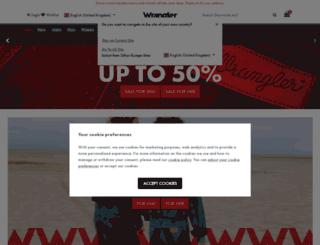 wrangler.co.uk screenshot