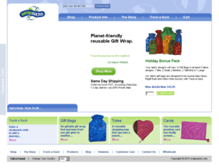 wrapsacks.com screenshot