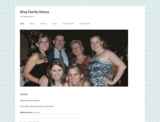 wrayfamilyhistory.org screenshot