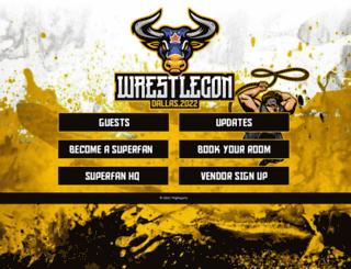 wrestlecon.com screenshot