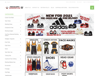 wrestlersupply.com screenshot