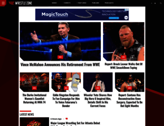 wrestlezone.com screenshot