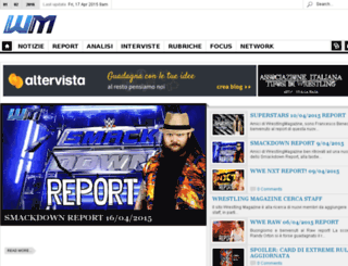wrestlingmagazine.altervista.org screenshot