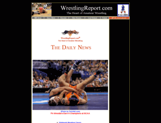 wrestlingreport.com screenshot