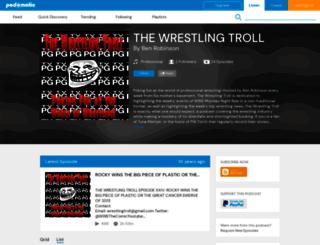 wrestlingtroll.podomatic.com screenshot
