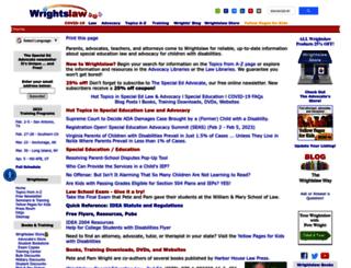wrightslaw.org screenshot