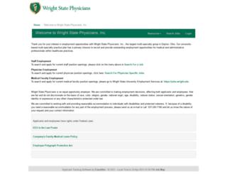 wrightstatephysiciansstaff.hirecentric.com screenshot