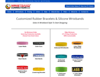 wristbandconnection.com screenshot