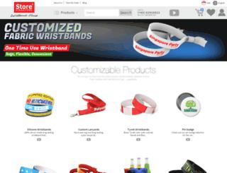 wristbandshouse.sg screenshot