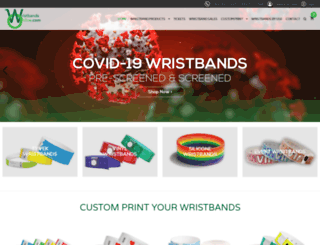 wristbandsonline.com screenshot