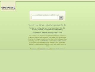 write.eserver.org screenshot