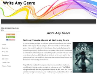 writeanygenre.com screenshot