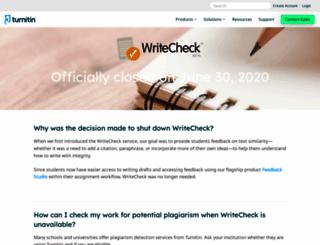 writecheck.com screenshot