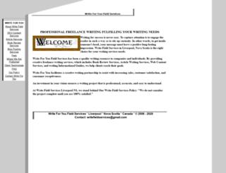 writefieldservices.com screenshot