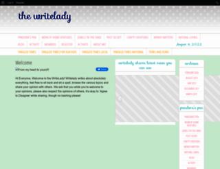 writelady.net screenshot