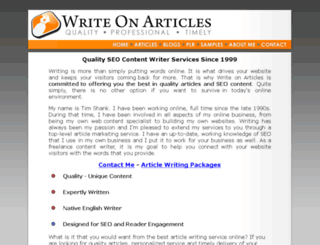 writeonarticles.com screenshot