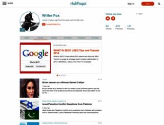 writerfox.hubpages.com screenshot
