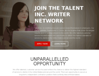 writers.talentinc.com screenshot