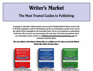 writersmarket.com screenshot