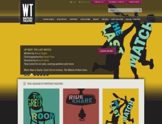writerstheatre.org screenshot