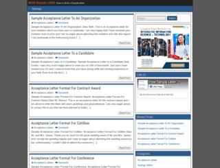 writesampleletter.com screenshot
