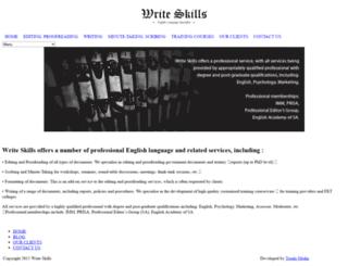 writeskills.co.za screenshot