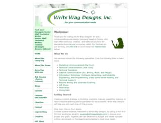 writewaydesigns.com screenshot