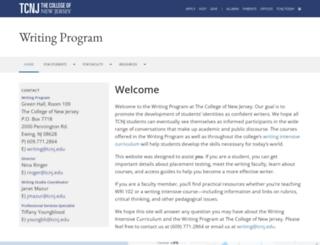 writing.tcnj.edu screenshot