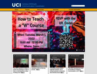writing.uci.edu screenshot