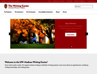 writing.wisc.edu screenshot