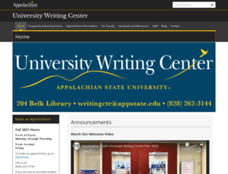 writingcenter.appstate.edu screenshot