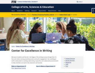 writingcenter.fiu.edu screenshot