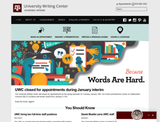writingcenter.tamu.edu screenshot