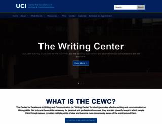 writingcenter.uci.edu screenshot