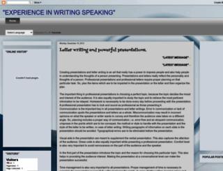 writingexperience2012.blogspot.com screenshot