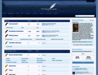 writingforums.org screenshot
