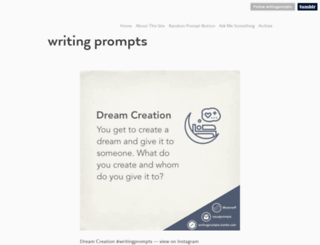 writingprompts.tumblr.com screenshot