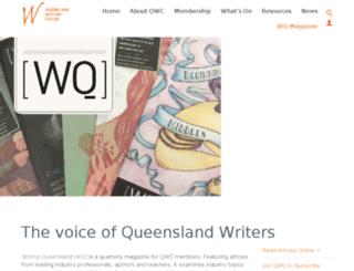 writingqueensland.com.au screenshot