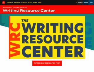 writingresourcecenter.com screenshot