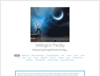 writingsinthesky.com screenshot