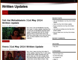 written-updates.com screenshot