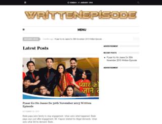 writtenepisode.net screenshot