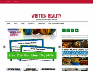 writtenreality.com screenshot