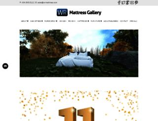 wrmattress.com screenshot